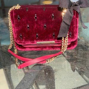 Kate Spade Burgundy Velvet Holiday Handbag!